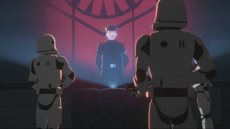 A familiar moment from The Force Awakens, as revisited on Star Wars Resistance.