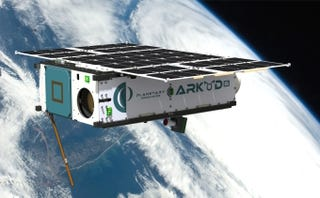 Illustration for article titled Este prototipo de sonda explorará satélites para buscar minerales y agua
