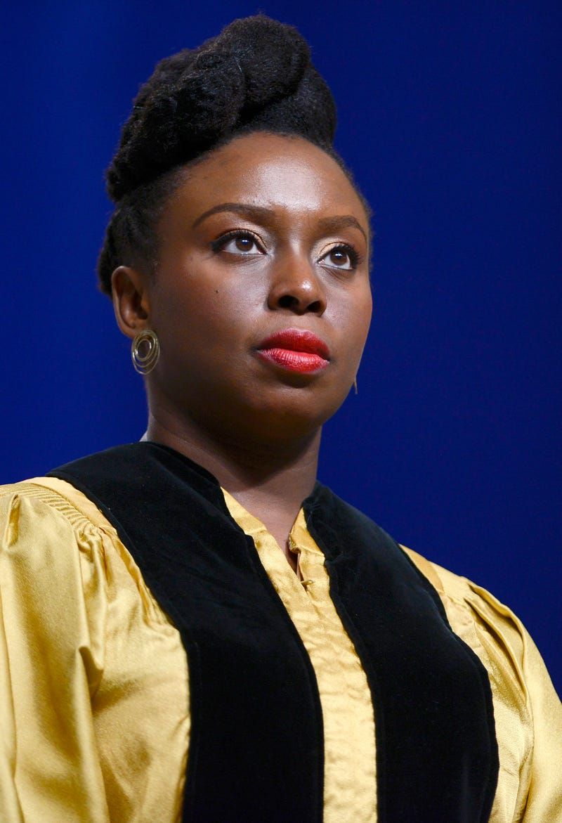Chimamanda Ngozi Adichie receives an honorary doctorate from Johns Hopkins University on May 18, 2016, in Baltimore.Leigh Vogel/Getty Images