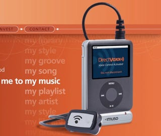 Illustration for article titled Direct Voxx Muso is Natural-Speech Voice Recognition Dongle for iPod nano