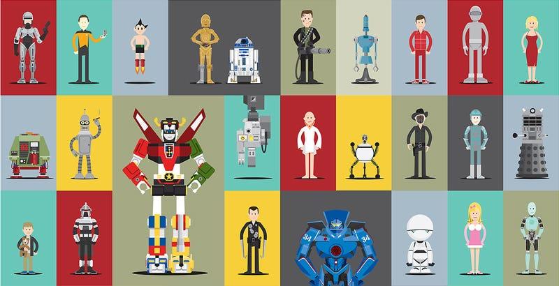 Illustration for article titled ¿Reconoces a estos 66 robots del mundo del cine y la televisión?