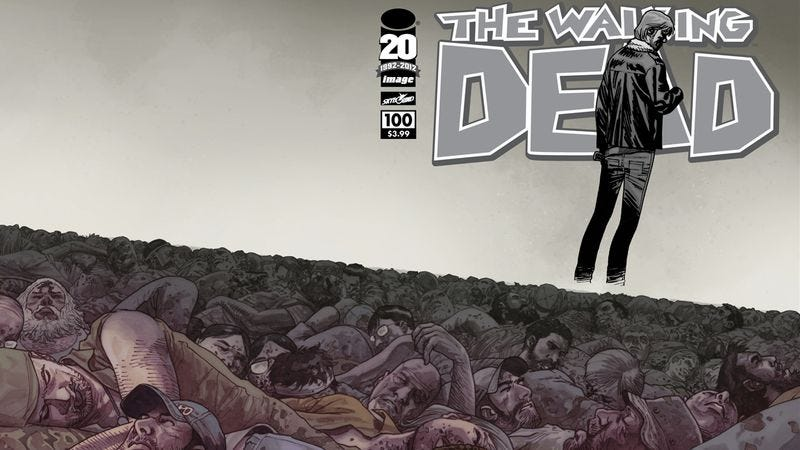 Illustration for article titled The 100th issue of The Walking Dead raises the question: How far is too far?