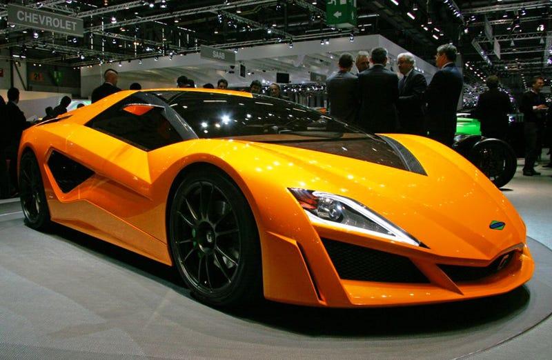 Illustration for article titled Frazer-Nash Namir by Giugiaro: World's Fastest Hybrid... Concept