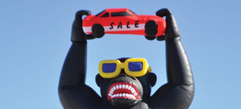 Illustration for article titled What Is The Goofiest Auto Dealer Sales Gimmick Ever?