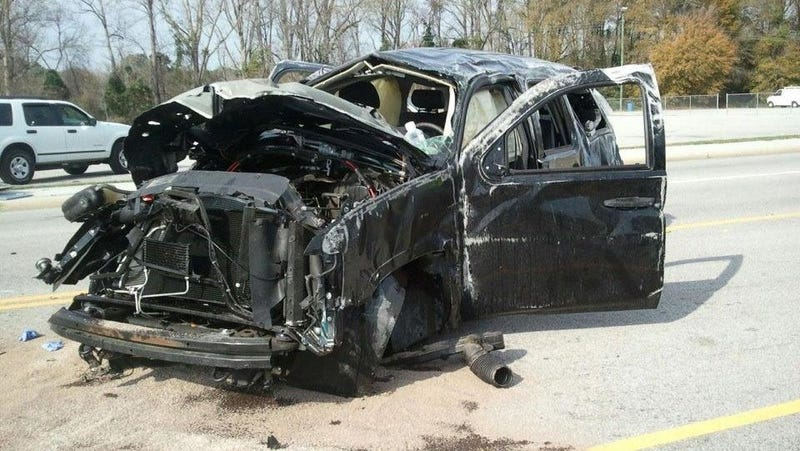 Deputy traveling 119 MPH Before 'Spectacular' Crash