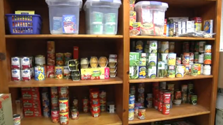 Some of the items available in the Washington High School food pantryWNCT screenshot