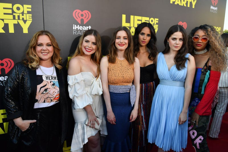 "Melissa McCarthy, Jessie Ennis, Gillian Jacobs, Adria Arjona, Molly Gordon and Yani Simone attend ""Life of the Party"" World Premiere at AMC Tiger 13 on April 30, 2018, in Opelika, Ala."
