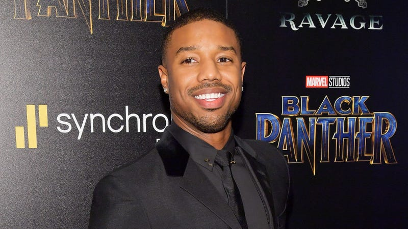 Michael B. Jordan attends the screening of Marvel Studios' Black Panther, hosted by the Cinema Society, on Feb. 13, 2018, in New York City.