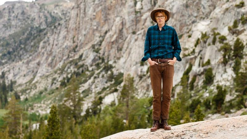 Illustration for article titled Watch Brett Dennen paint puffy clouds, forage for rainbow chocolate in preparation for his new LP