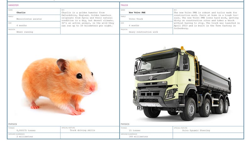 Illustration for article titled It Takes A Very Special Hamster To Steer A Truck