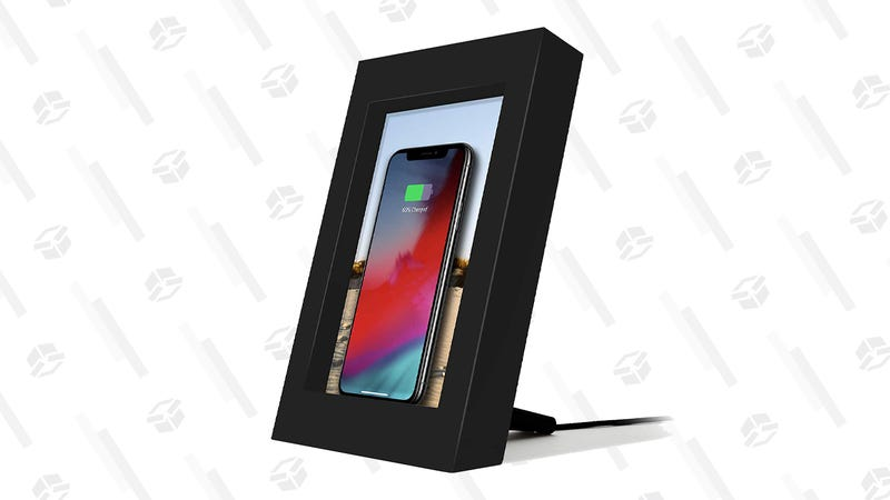 Twelve South PowerPic Picture Frame Stand with Integrated 10W Qi Charger | $50 | Amazon