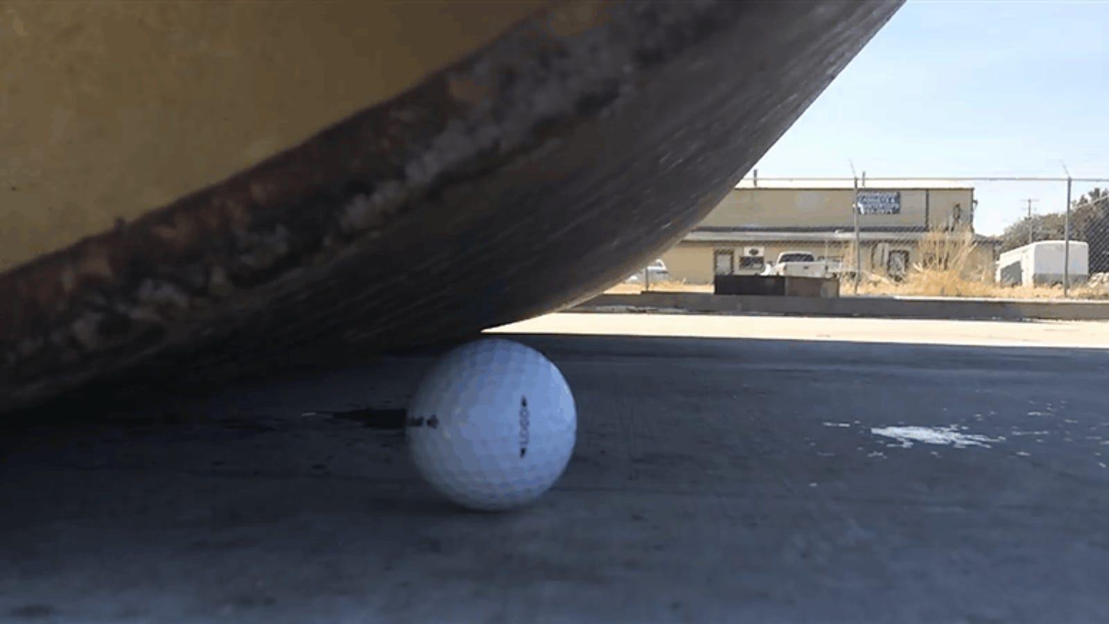 Las pelotas de golf son prácticamente indestructibles. Esta es la prueba
