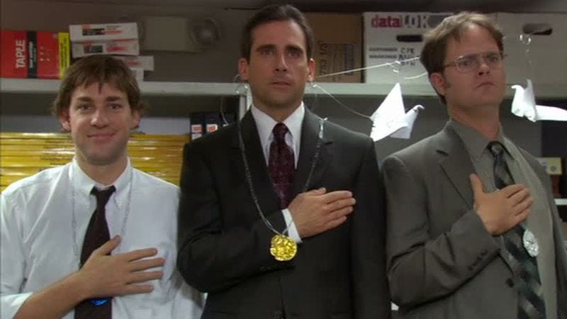 """Illustration for article titled The Office (Classic): """"Office Olympics""""/""""The Fire"""""""