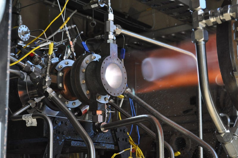 Illustration for article titled Rocket Engine Made With 3D Printed Parts Survives First Hot Fire Tests