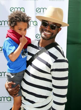 Taye Diggs with his son, Walker DiggsDavid Buchan/Getty Images