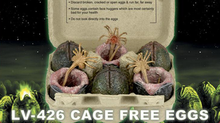 Illustration for article titled These AlienFace Hugger Eggs Come In The Smartest Toy Packaging Ever