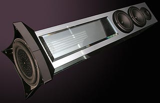 Illustration for article titled Waterfall Audio Speakers Deliver Shimmering Sound with Drivers Perched Inside Glass