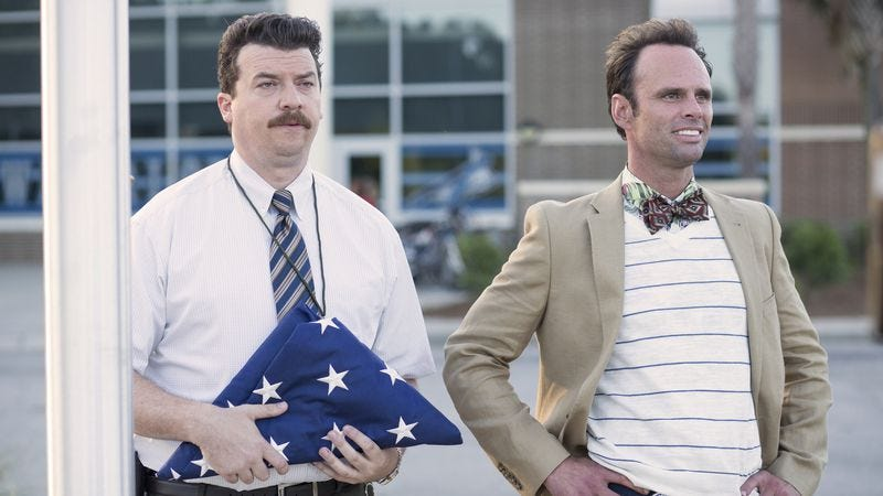 Danny McBride and Walton Goggins in Vice Principals (Photo: Fred Norris/HBO)