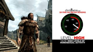"""Illustration for article titled Skyrim is Teaching Your Kids """"Homo Erotic Sex Maneuvers"""""""