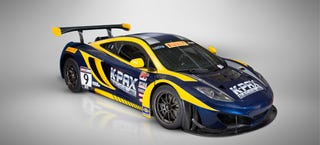 Illustration for article titled The K-PAX Racing McLaren 12C GT3 Is Blue And Gold Magnificence