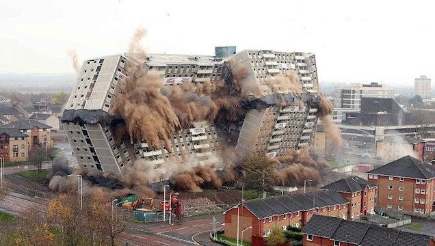 Building Being Demolished : The joy of watching huge buildings implode