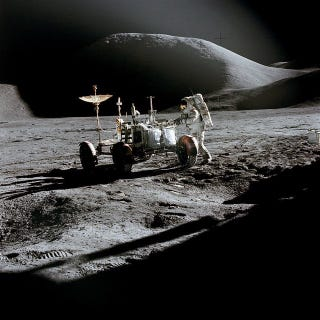 Illustration for article titled Just a reminder today Apollo 15 left a moon rover 200,000 miles away from home