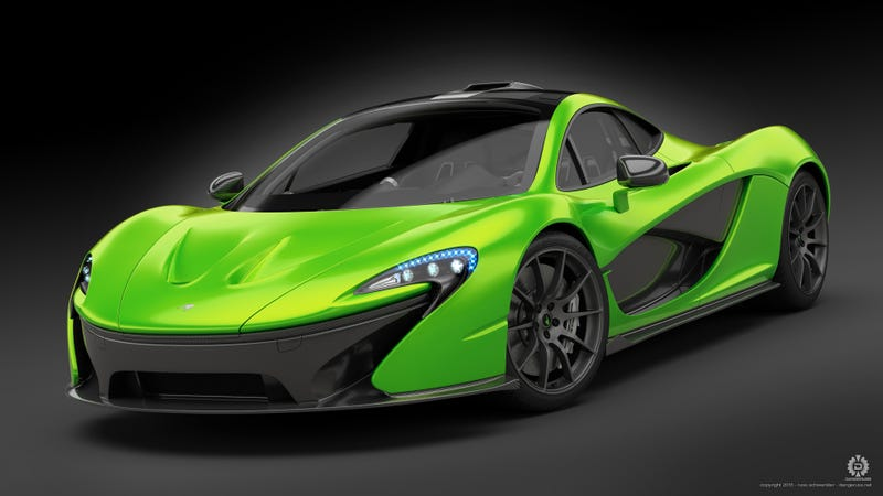 Illustration for article titled Electric Green Because Lucky Hypercar