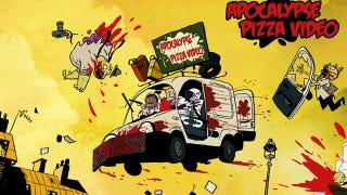 Illustration for article titled The most amazing zombie apocalypse pizza delivery cartoon we've ever seen!