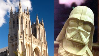 Illustration for article titled Darth Vader's helmet is hidden on the Washington National Cathedral