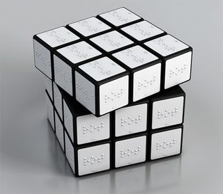 Illustration for article titled Braille Rubik's Cube Would Take 54 Times As Long To Complete