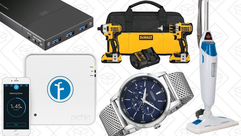 Illustration for article titled Today's Best Deals: Power Tools, Steam Mop, Citizen Watches, and More