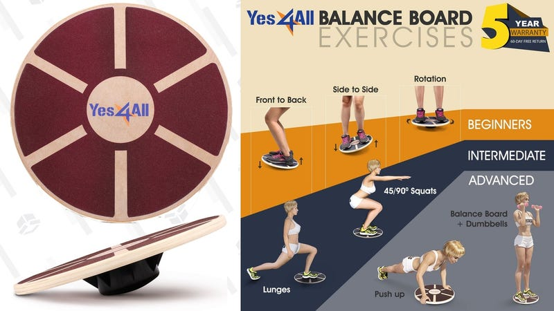 Wooden Balance Board | $20 | Amazon