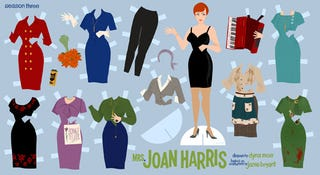 Illustration for article titled Joan Holloway Harris Paper Dolls
