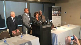 Renisha McBride's parents speak during a news conference, saying they are still trying to understand why a homeowner in Dearborn Heights, Mich., shot their daughter.Detroit News Screenshot