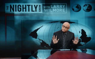 Host Larry Wilmore appears on the debut episode of Comedy Central's The Nightly Show With Larry Wilmore Jan. 19, 2015, in New York City. Stephen Lovekin/Getty Images for Comedy Central