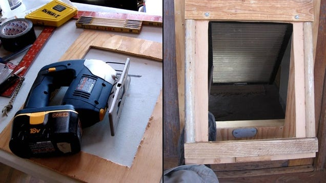 Do It Yourself Home Design: This DIY Dual Flap Dog Door Keeps The Weather Out