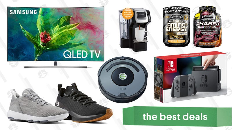 Illustration for article titled Saturday's Best Deals: Bose Headphones, Samsung QLED TVs, Reebok Sale, and More