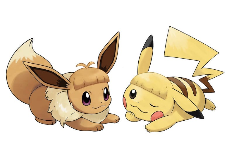 Illustration for article titled Not Even Pikachu And Eevee Can Pull Off Bangs