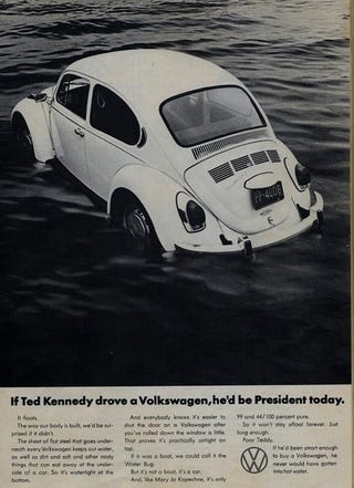 Illustration for article titled Edward Kennedy, Statesman And Terrible Driver, Dead At 77