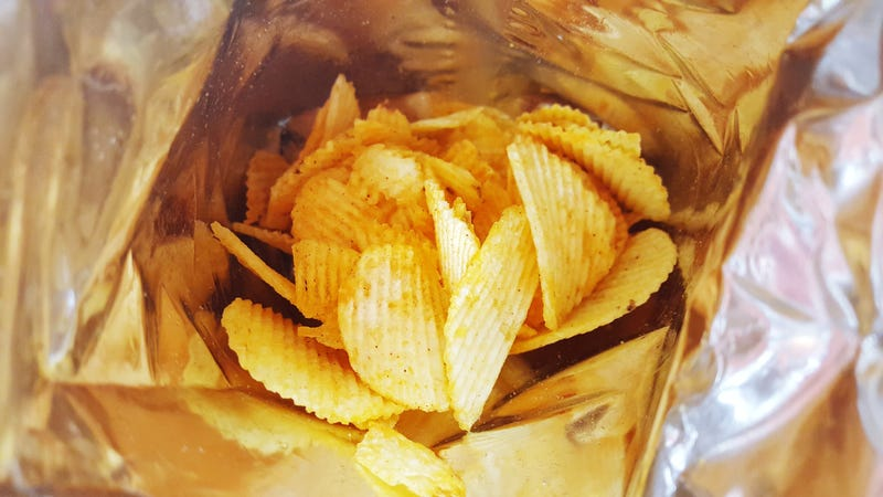 """Illustration for article titled Japan introduces """"drinkable""""chips for one-handed snacking"""