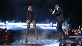 "Beyoncé and Jay Z performing ""Drunk in Love"" at the Grammys Jan. 26, 2013YouTube"