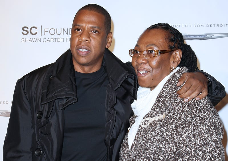 Jay-Z with his mother, Gloria Carter, in New York in 2011