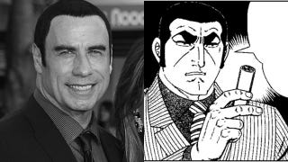 Illustration for article titled John Travolta Sure Looks Like a Japanese Manga Character