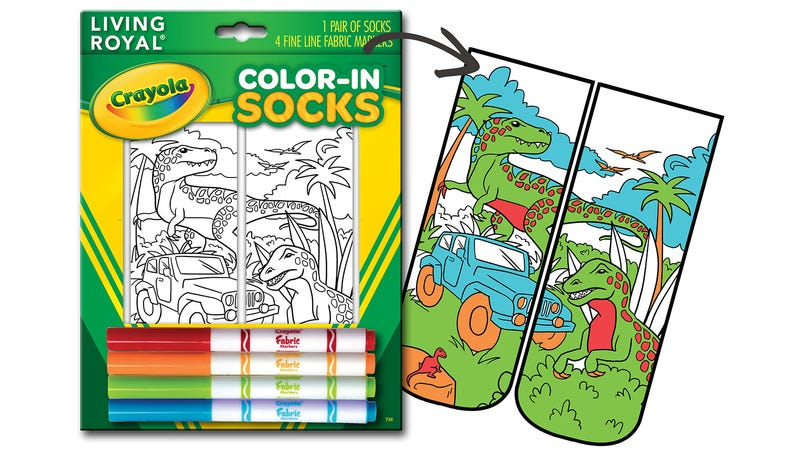 Illustration for article titled Crayola's Color-In Socks Will Always Perfectly Match Your Outfit