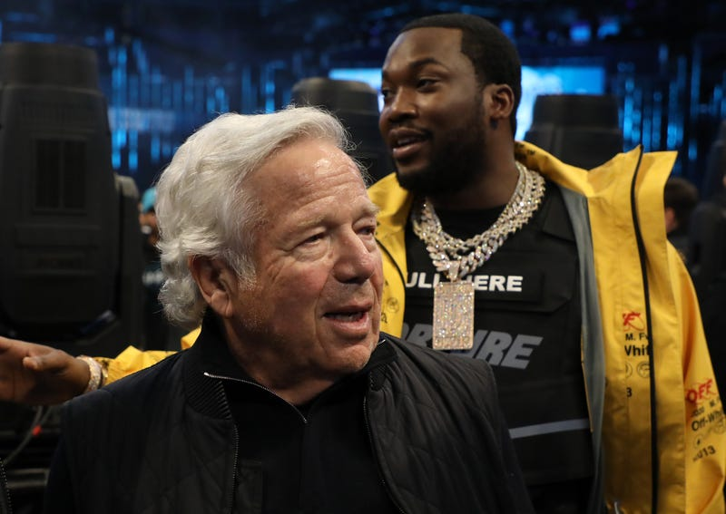Robert Kraft mingles during halftime at the NBA All-Star game as part of the 2019 NBA All-Star Weekend at Spectrum Center on February 17, 2019 in Charlotte, North Carolina.