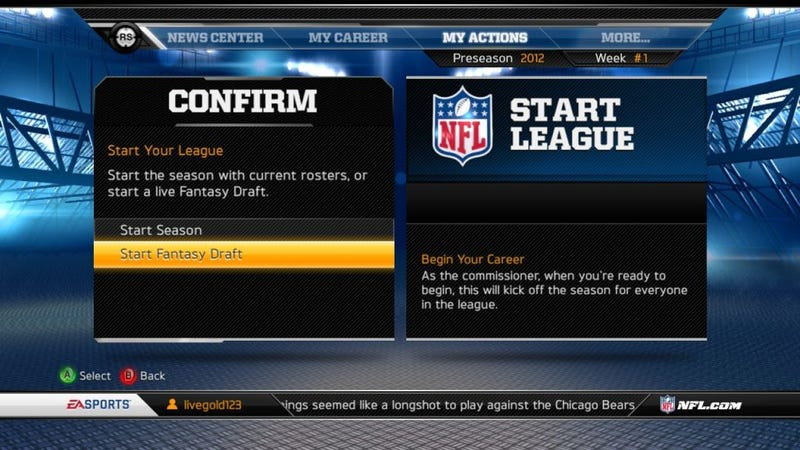 Fantasy drafts are returning to madden s career mode