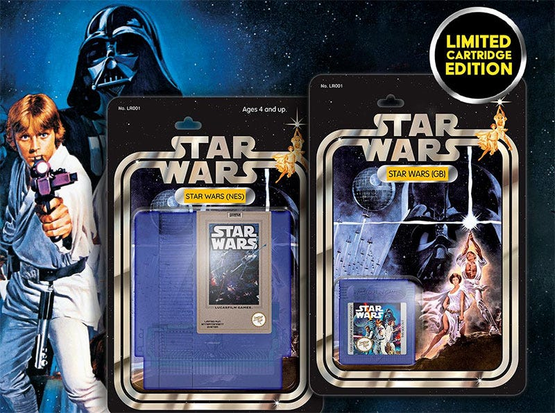 Illustration for article titled Look At These Star Wars Game Boxes