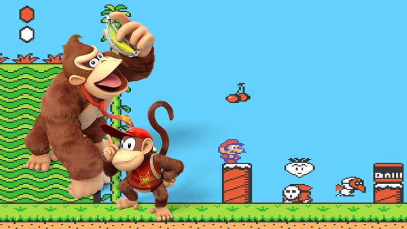 Illustration for article titled The Furry New Donkey Kong Yanks A Gimmick From Super Mario Bros. 2