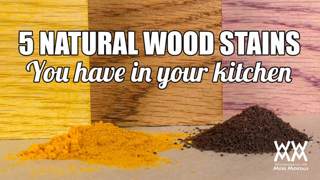 Make Natural Wood Stain Using Common Household Items