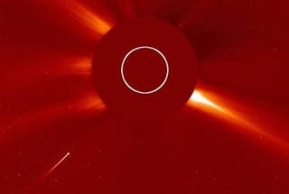 Illustration for article titled The Sun Eating a Comet, Captured on Camera